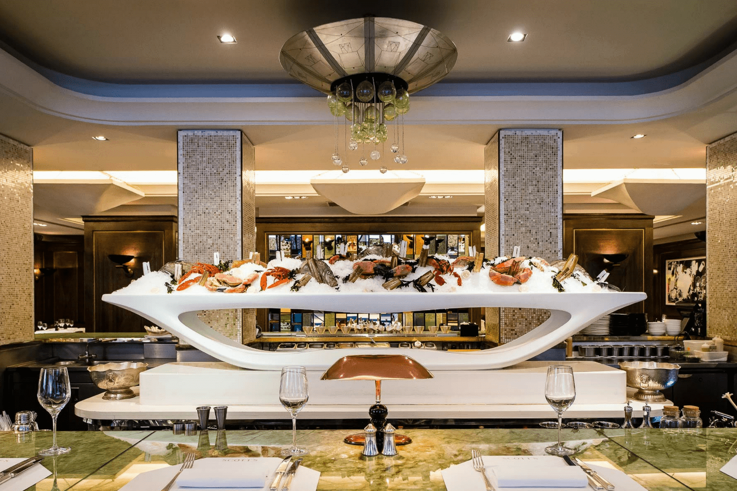 The Oyster and Champagne Bar at Scott's, a Fish and Seafood Restaurant in Mayfair