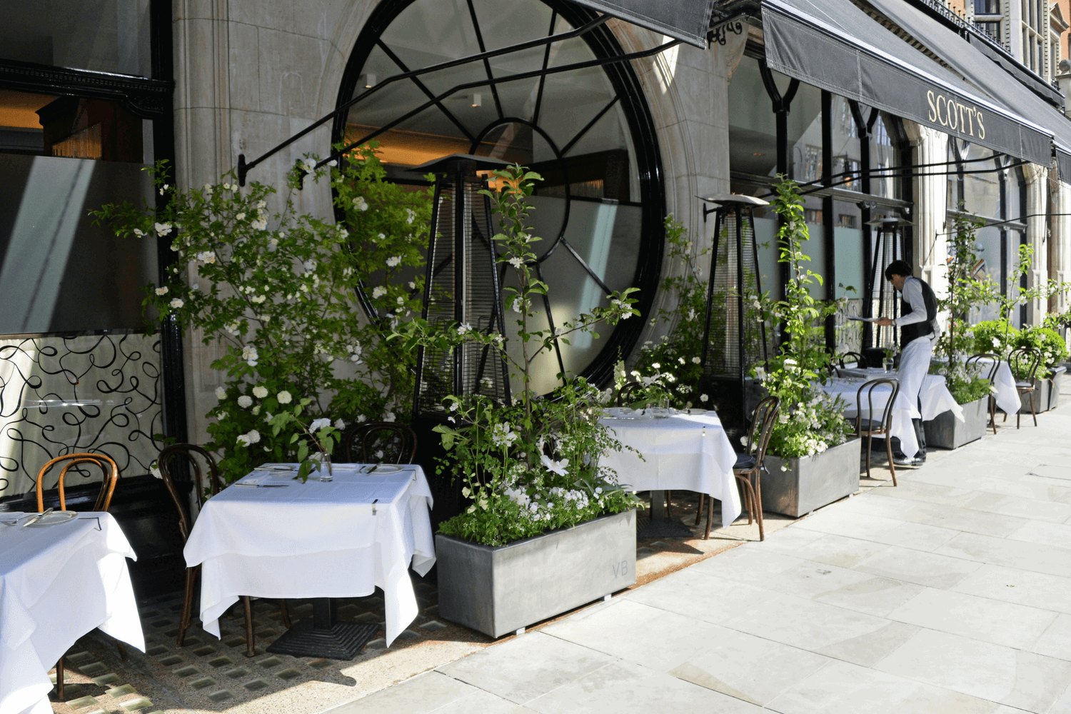 Restaurant with a Terrace, The Victoria Beckham Terrace at Scott's, Mayfair