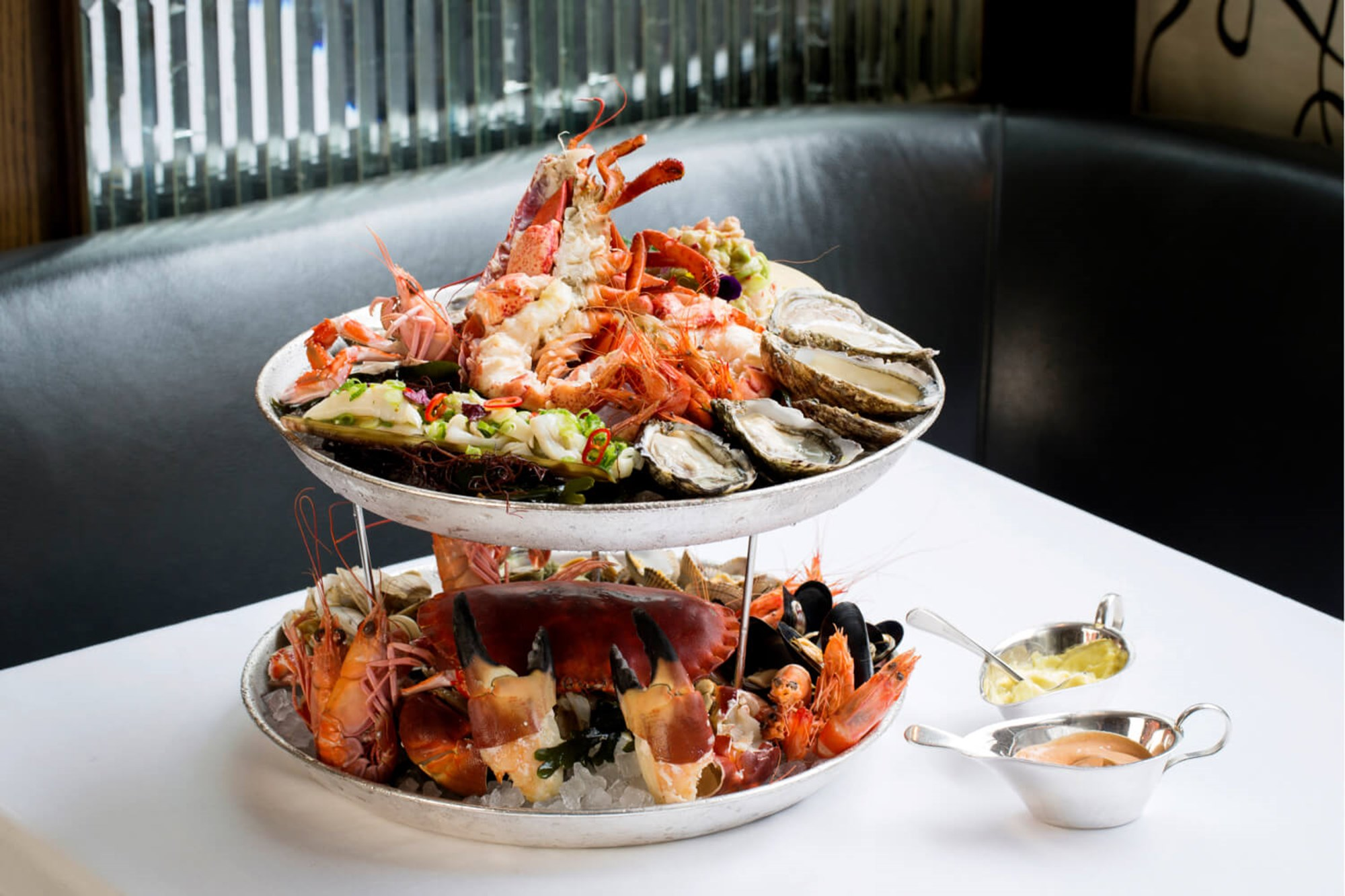 Seafood platter at Scott's, London's finest fish and seafood restaurant