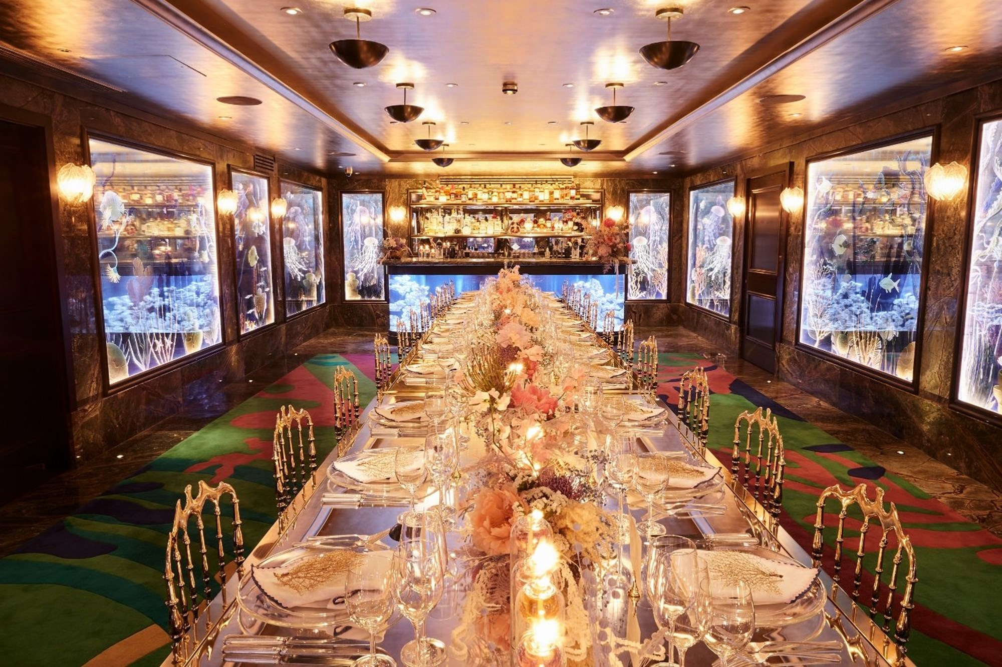 The private dining room at Scott's, London, ideal for birthday celebrations